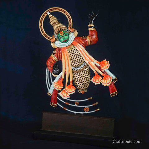 Handcrafted Wrought Kathakali Dancer