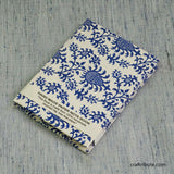 Handmade Paper Notebook With Delicate Blue Floral Design