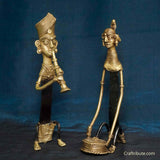 Handcrafted Dhokra Figurines - Tribal Couple