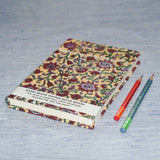 Handmade Paper Notebook With Delicate Floral Design