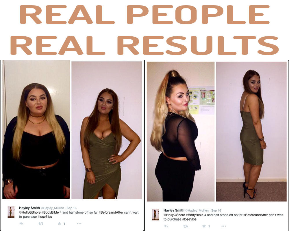 Hayley lost an incredible 4.5 stone on the Body Bible diet.