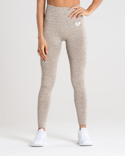 Move Seamless Leggings | Brown Grey Marl