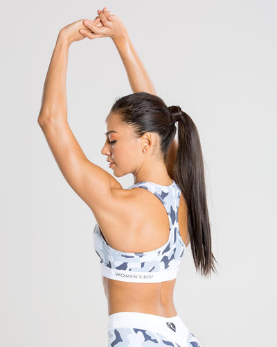 Sculpture Sports Bra | Camo/Grey