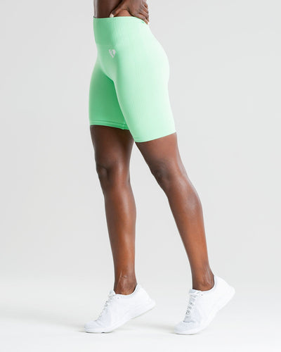 Power Seamless Cycling Shorts | Green Ash