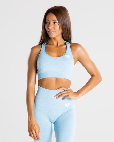 Move Seamless Sports Bra | Blue Marl