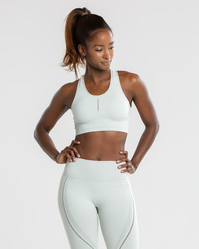 Renew Seamless Sports Bra | Chalk Grey