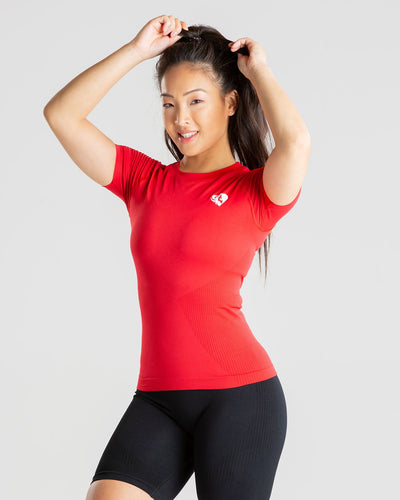 Power Seamless T-Shirt | Red