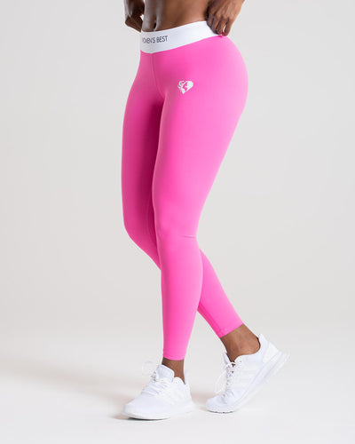 Exclusive Leggings | Pink/White