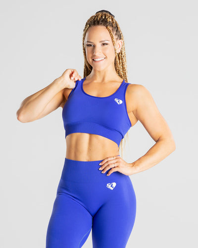 Power Seamless Sports Bra | Royal Blue