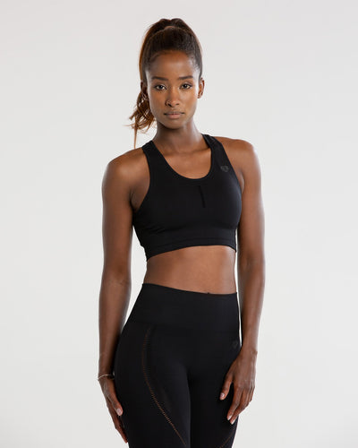 Renew Seamless Sports Bra | Black