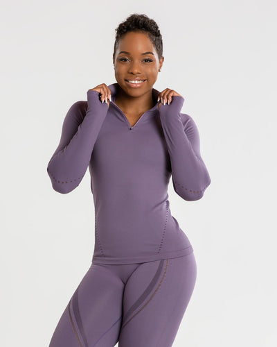 Renew Seamless Long Sleeve Top | Frosted Lilac