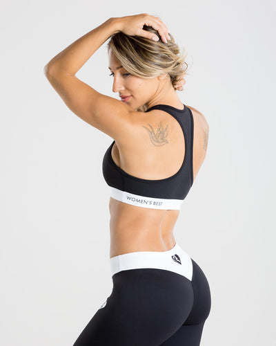 Exclusive Sports Bra | Black/White