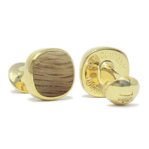 Original OAK Company AB Cufflinks - OAK Cufflinks Gold