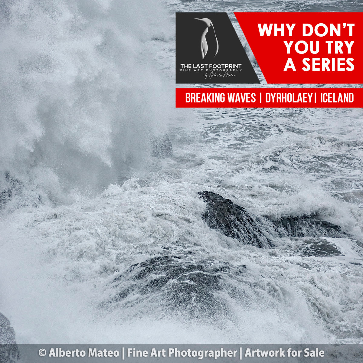 Why don't you try a Series? [Breaking waves in gale, Dyorhaley, Iceland.]