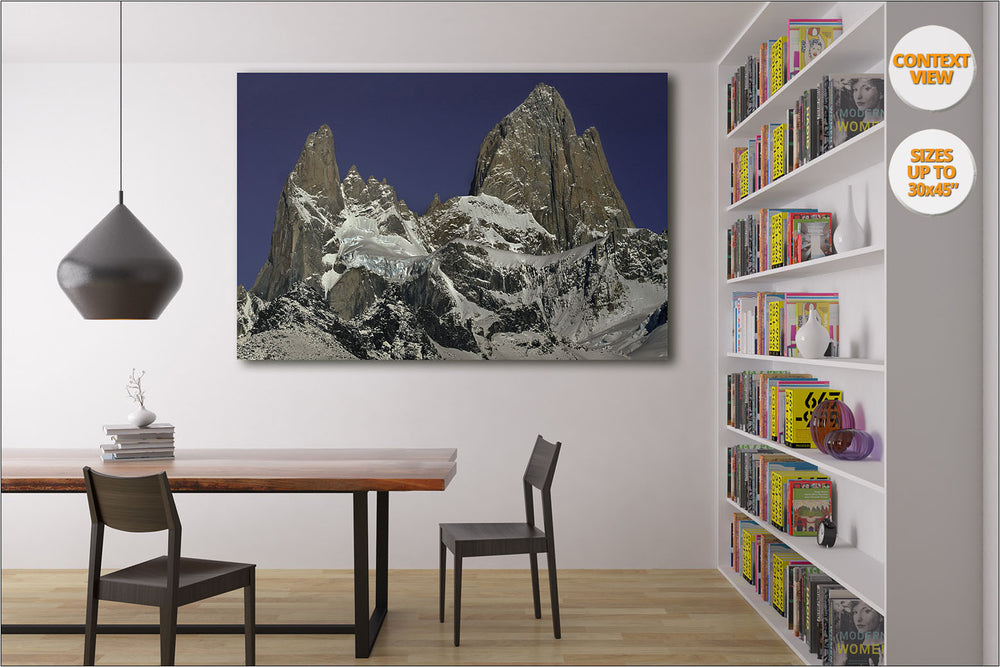 Mount Fitz and Aguja Poincenot, Patagonia. | View of the Print hanged in Living Room.