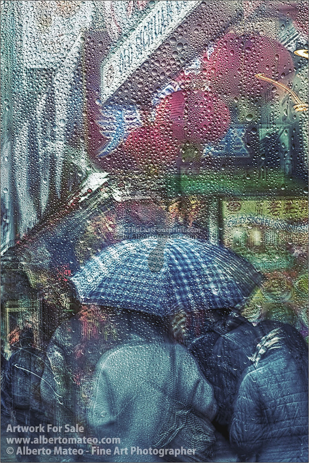 Rain in Chinatown, New York. [1/3] | New York Through the Rain Series. | Limited Edition Print.
