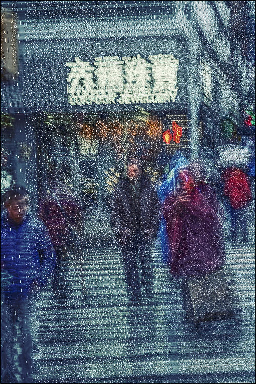 Rain in Chinatown, New York. [2/3] | New York Through the Rain Series. | Limited Edition Fine Art Print.