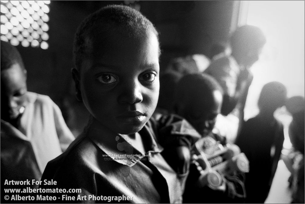 Orphans, Thondwe Nursery School, Malawi. | Black and White Fine Art Print.