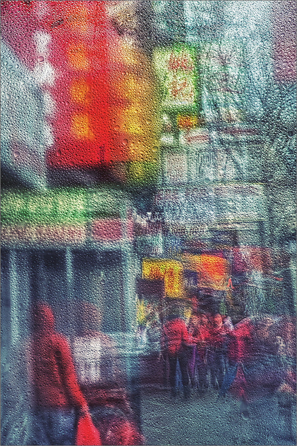Rain in Chinatown, New York. [3/3] | New York Through the Rain Series. | Limited Ed. Fine Art Print.