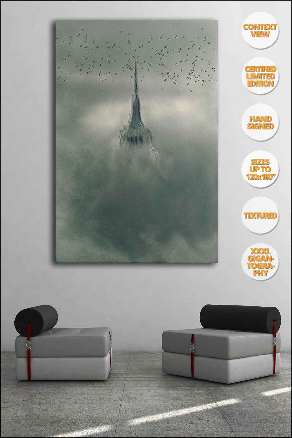 Empire State, 'Way to Freedom' Series. [3/6] | Hanged in living room.
