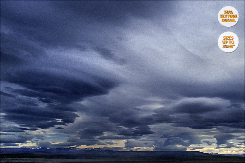 Clouds, Patagonia, Chile. | 50% Detail view.