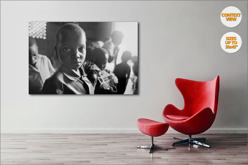 Orphans, Thondwe Nursery School, Malawi. | Print hanged in office.