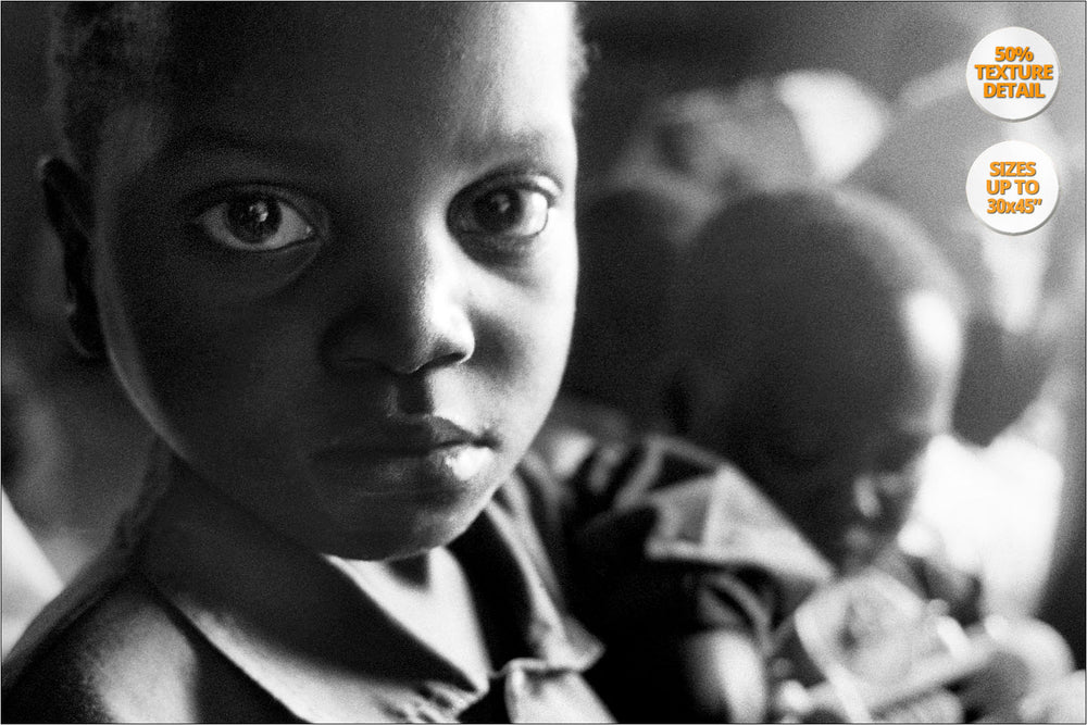 Orphans, Thondwe Nursery School, Malawi. | 50% Magnification Detail.