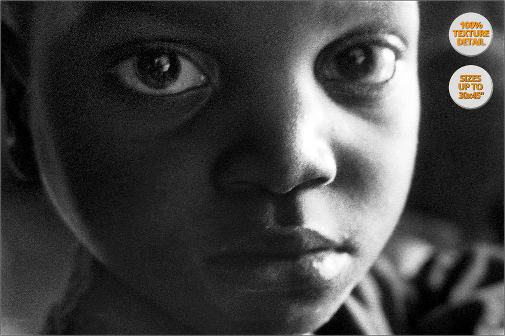 Orphans, Thondwe Nursery School, Malawi. | 100% Magnification Detail View of the Print.
