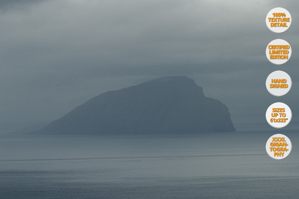 Mykines Island Panorama, Faroe Islands, North Atlantic. | 100% Magnification Detail.