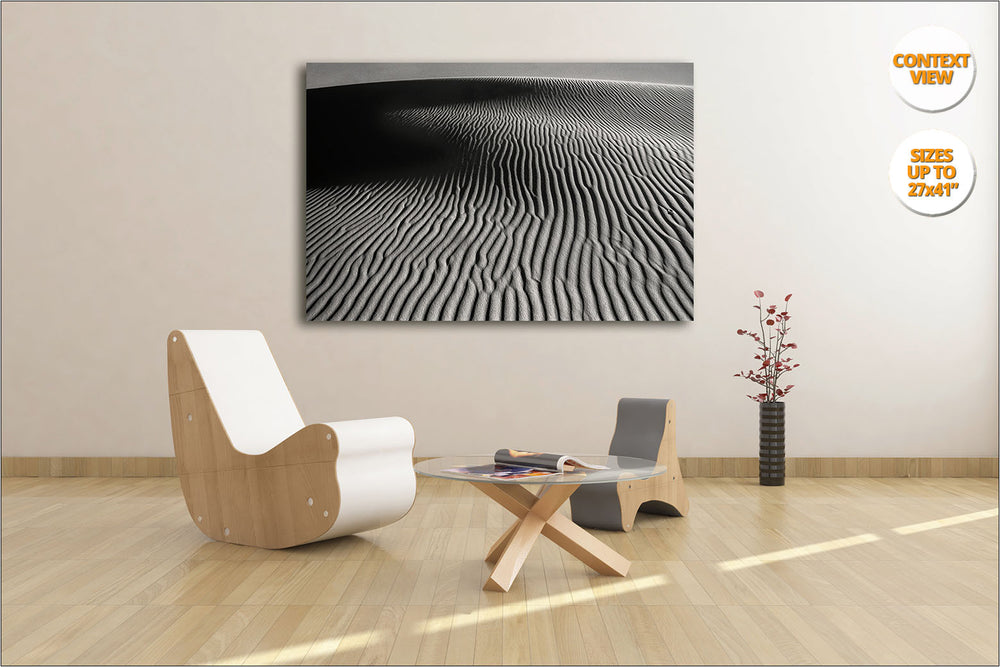 Abstract dunes pattern, Sahara Desert, Morocco - Hanged in a living room version.