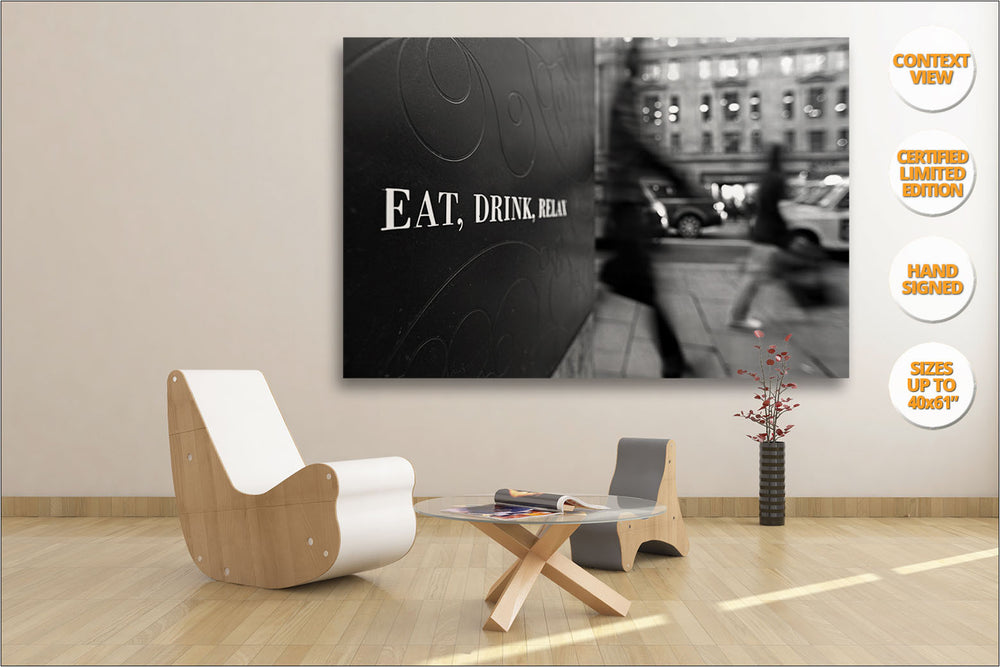 "Series of Four Prints: ""Eat, Drink, Relax"", Regent St. London. 