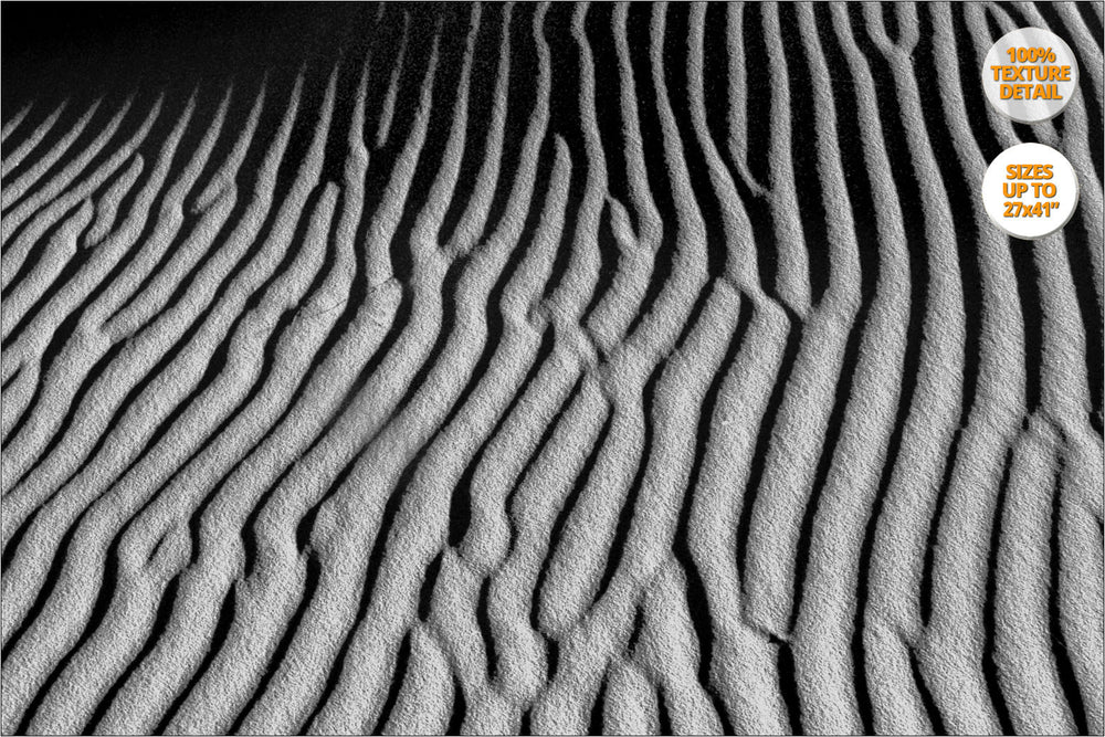 Abstract dunes pattern, Sahara Desert, Morocco. 100% Texture Detail Version.