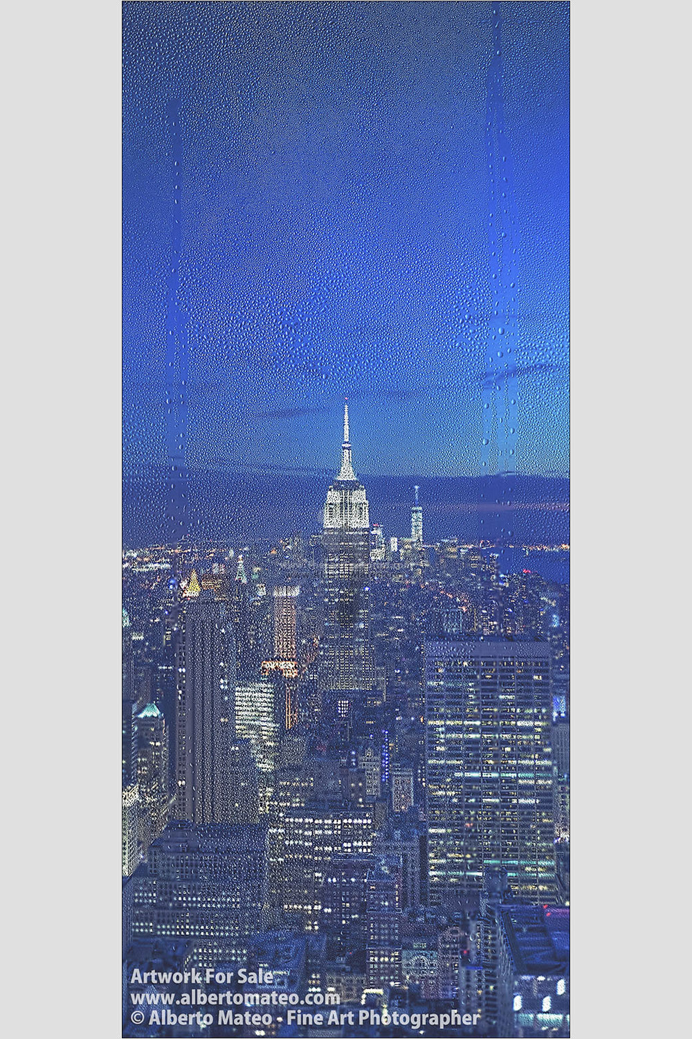 The Empire State at dusk, New York. | Available as Giant Print | Limited Edition Print.
