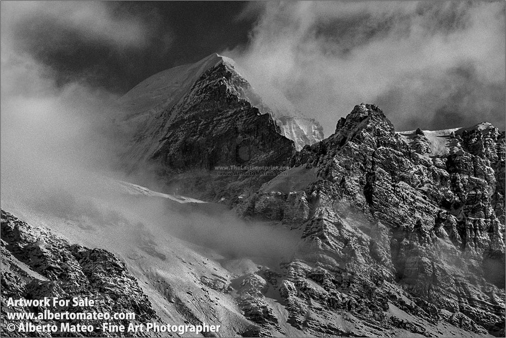 Mount Thorung Peak from Letdar, Himalaya. | Open Edition Print.