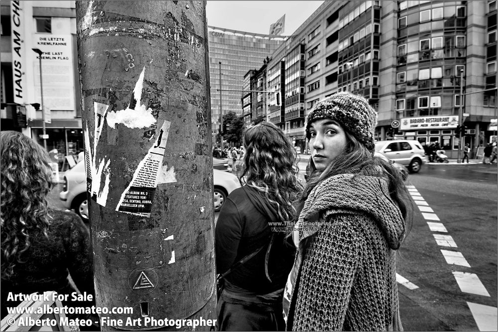 Glance, Check Point Charlie, Berlin, Germany.