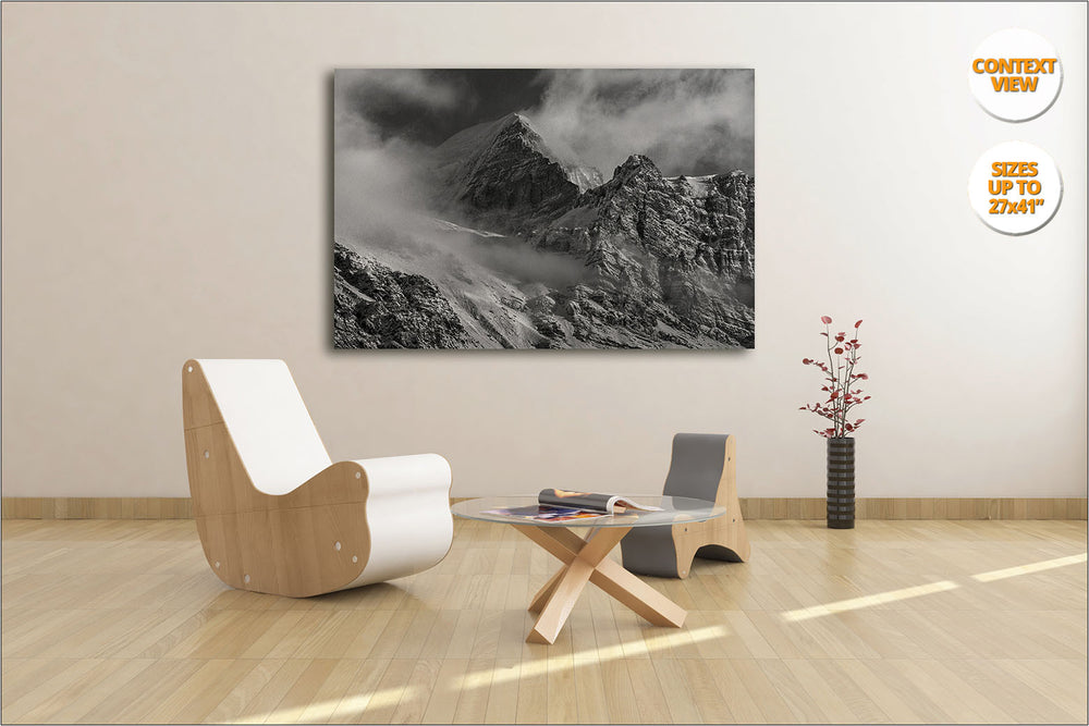 Mount Thorung Peak from Letdar, Himalaya. | Print hanged in meeting room.