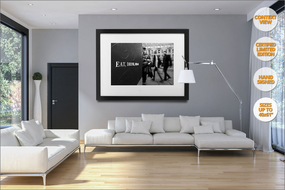Eat, Drink, Relax, Regent Street, London, UK. | Prints hanged in living room.