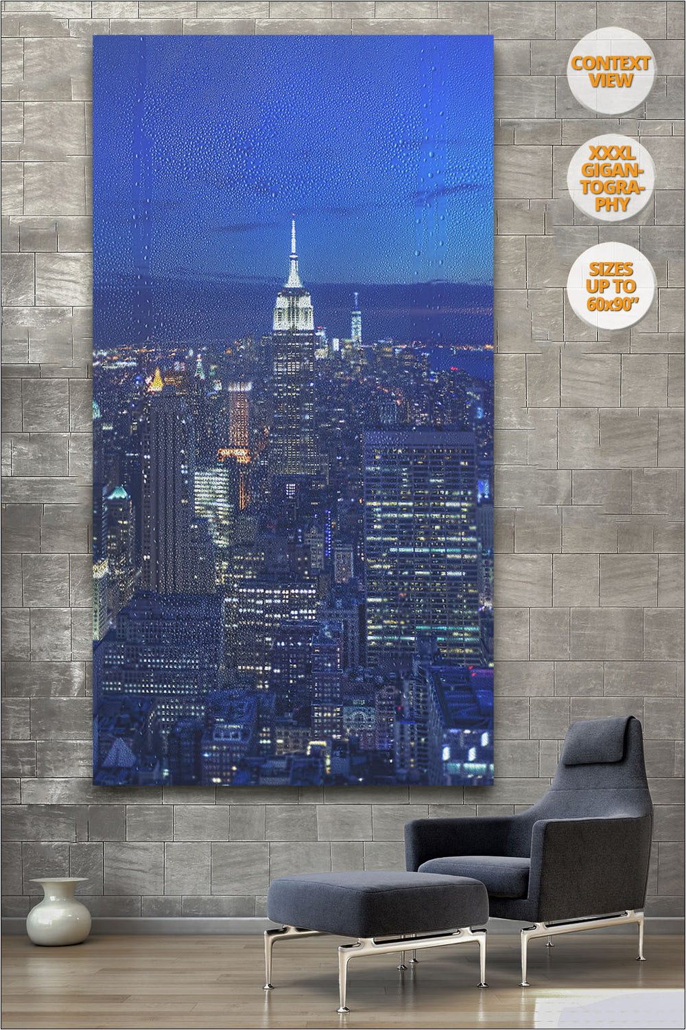The Empire State at dusk, Manhattan, NYC. | Print hanged in reading room.