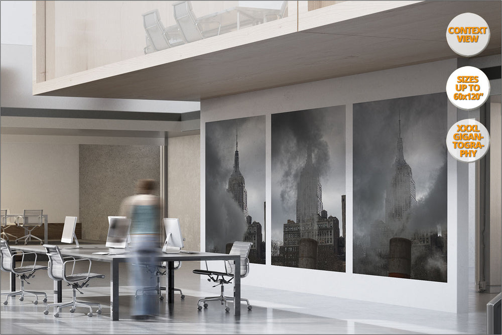 Steam under the Empire State, New York. | Series of Five Prints, hanged in office.