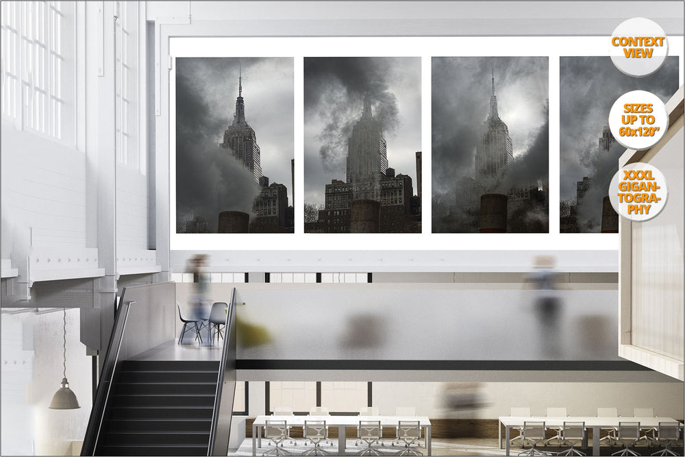 Steam under the Empire State, New York, USA. | Series of Five Prints, hanged in office.