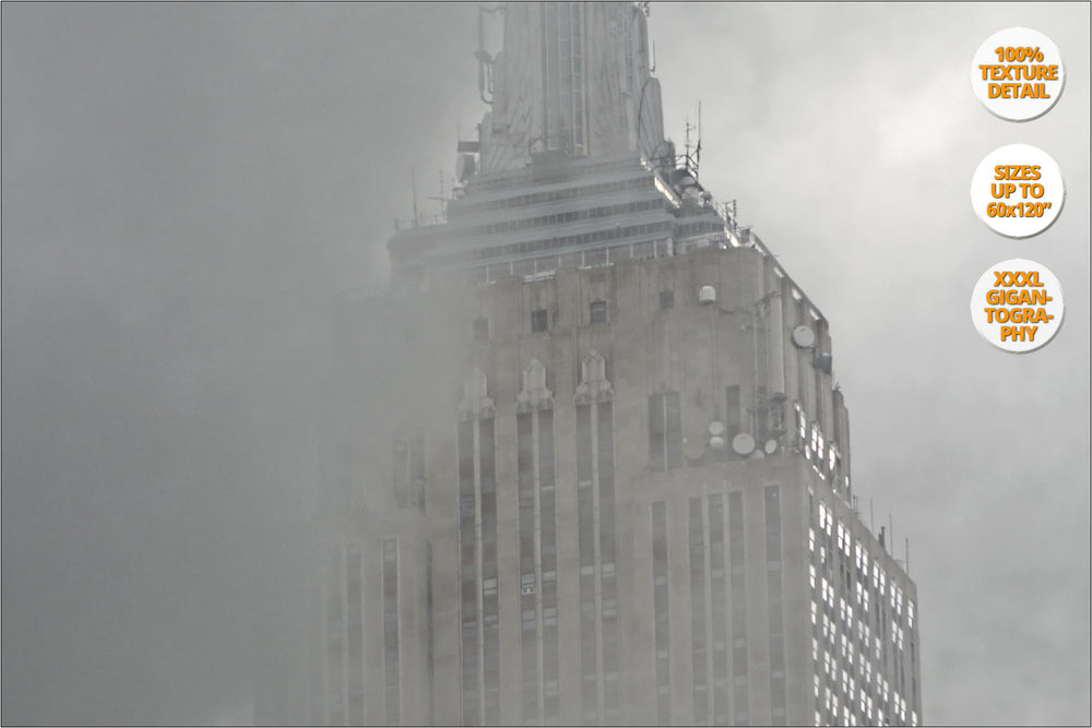 Steam under the Empire State, New York, USA. | View of the Print at 100% magnification detail.