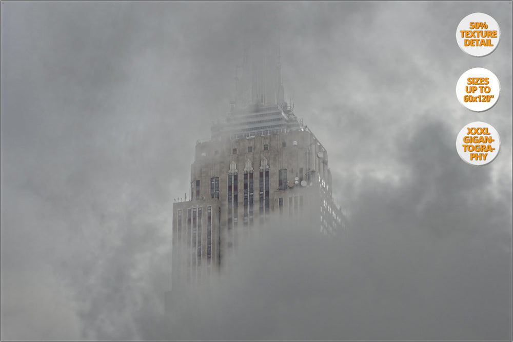 Steam under Empire State Bdg., New York, USA. | View of the Print at 50% magnification texture detail.