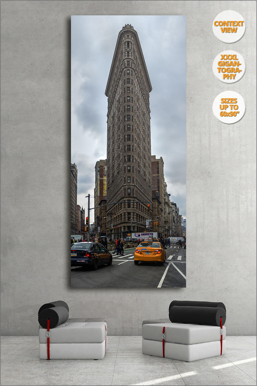 Flat Iron Building, Manhattan, NYC. | Giant Print hanged in living room.