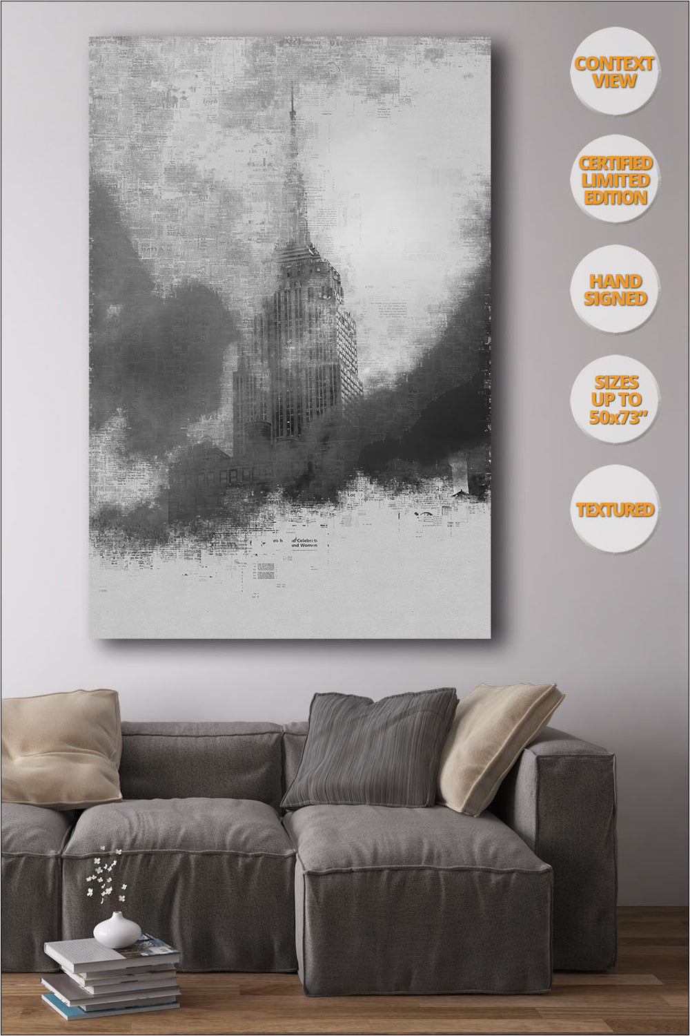 The Empire State, Manhattan, New York. | Print hanged in dining room.
