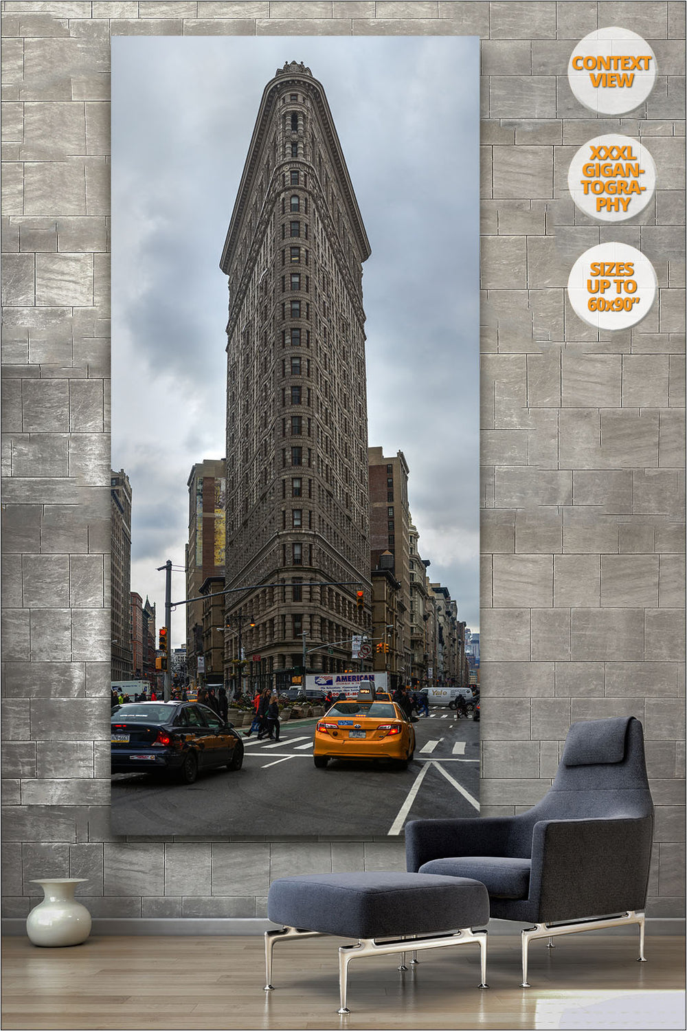 Flat Iron Building, Manhattan, NYC. | Vertical Print hanged in reading room.