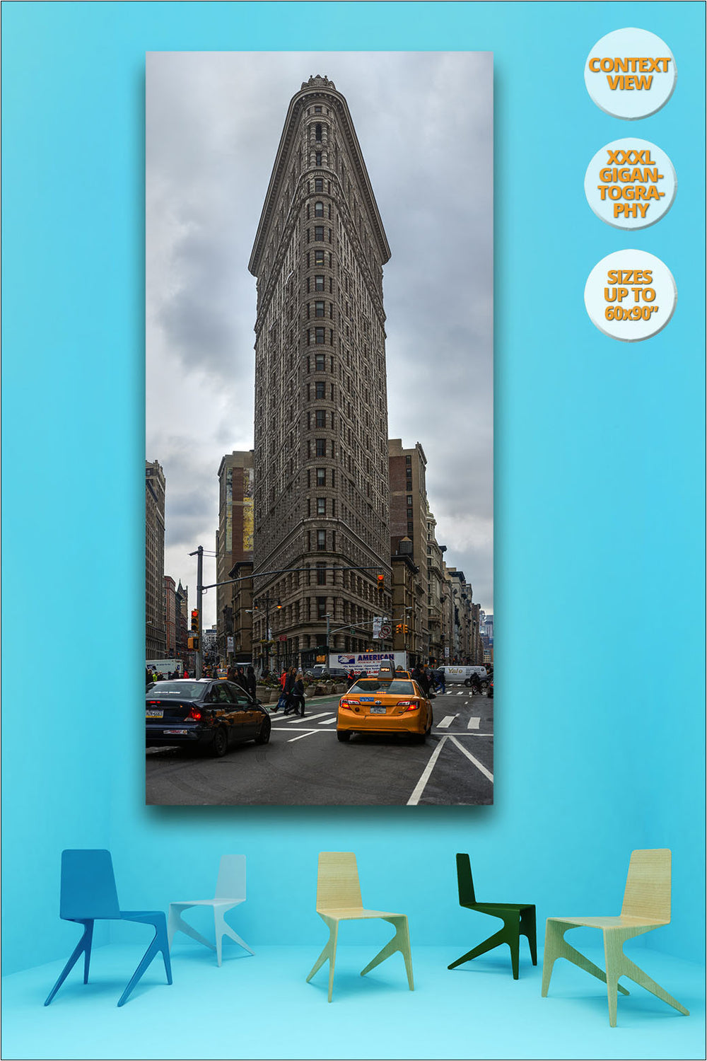 Flat Iron Building, Manhattan, New York. | Giant Print hanged in meeting room.