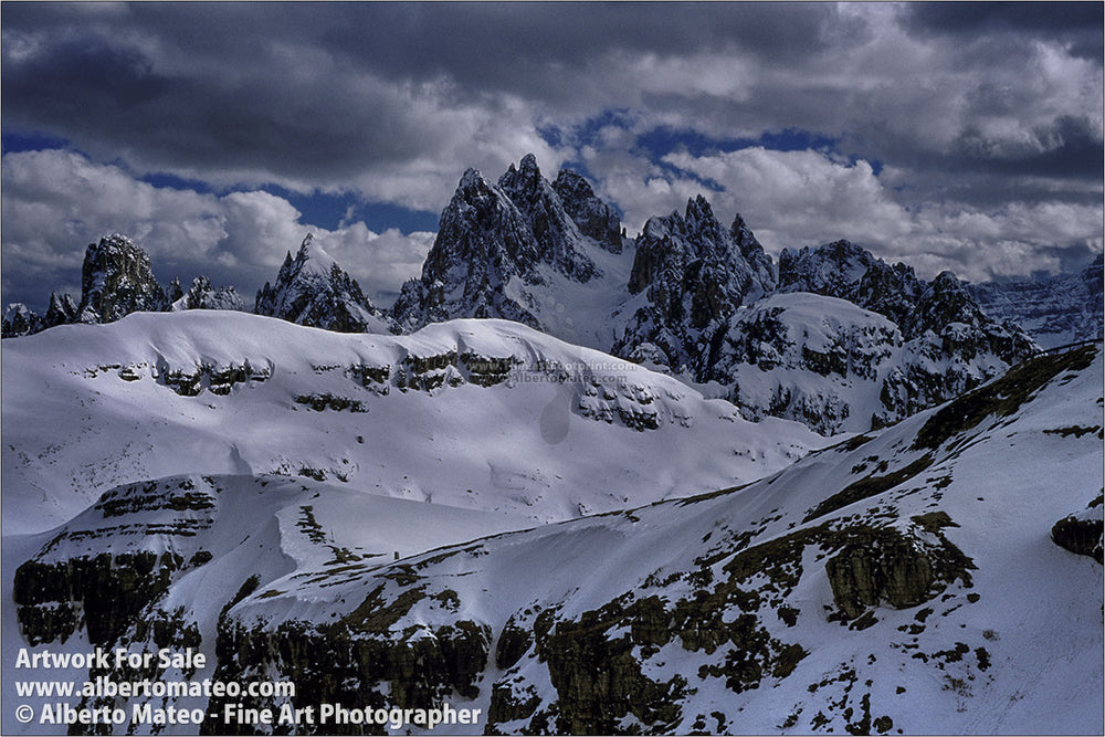 Misurina Range in Winter, Dolomiti, Italy. | Open Edition Landscape Print.
