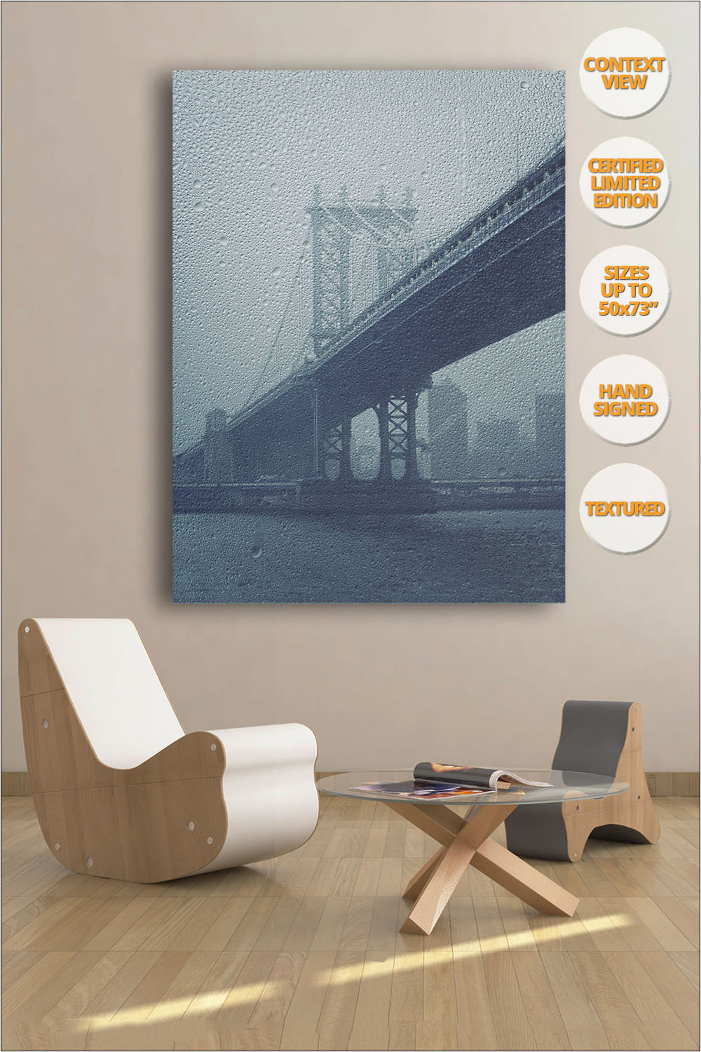 Manhattan Bridge Pillar, New York. | Print hanged in waiting room.
