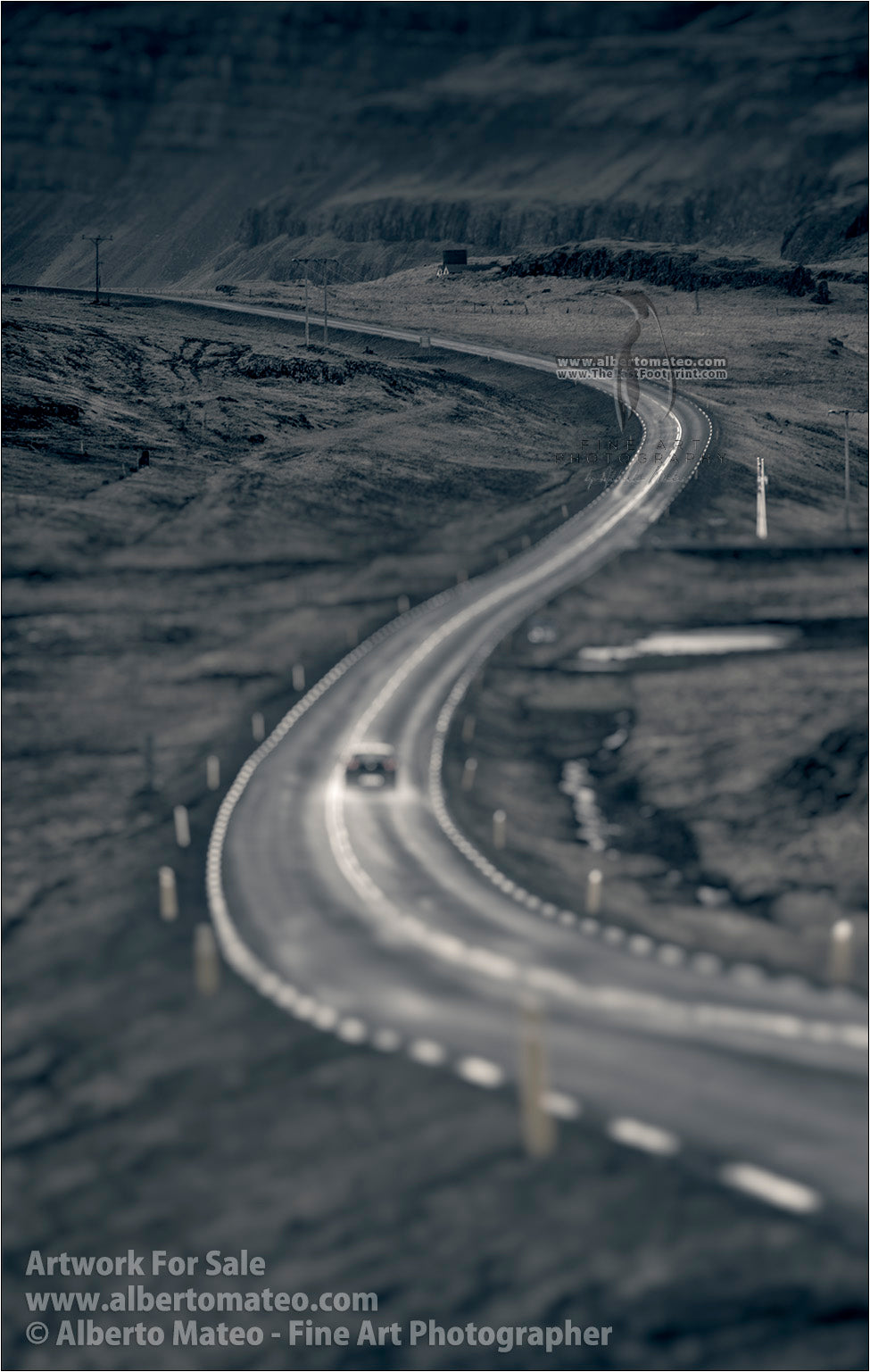 Road curve, Southern Iceland.