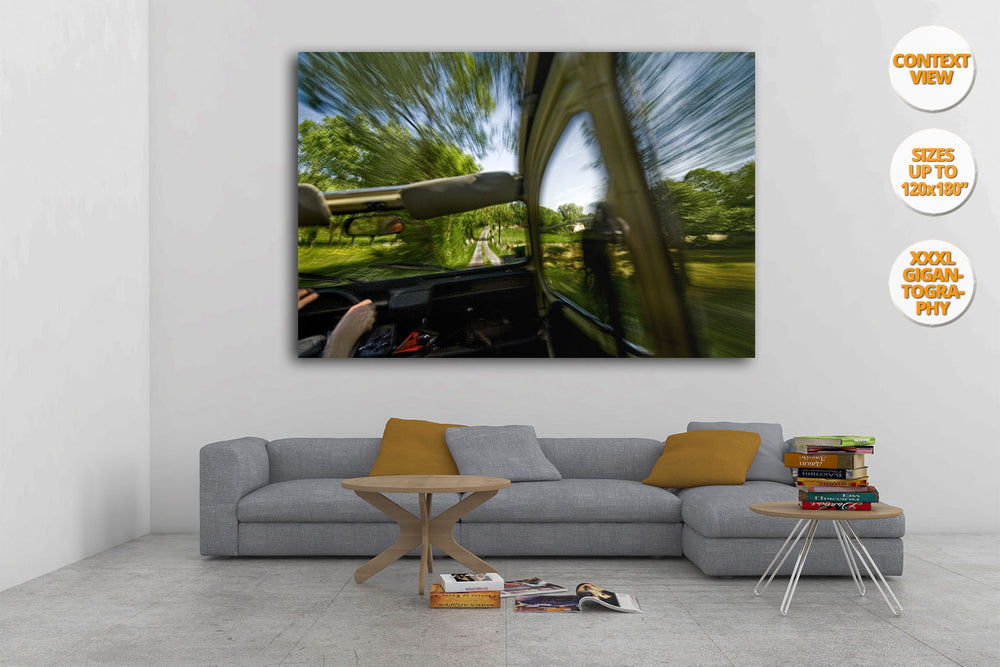 Classic Citroen 2 CV car, Poitiers, France. | Print hanged in living room.